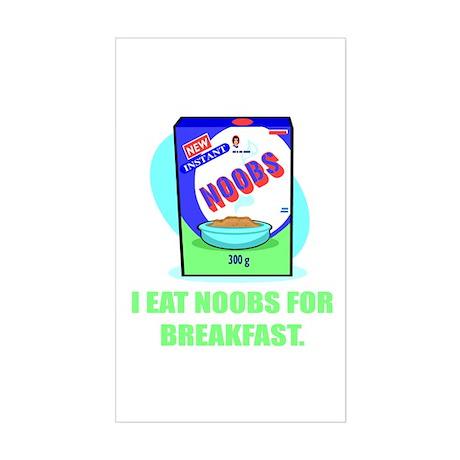 I Eat Noobs (Box) Vinyl Sticker