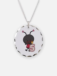 5th Birthday Ladybug Necklace