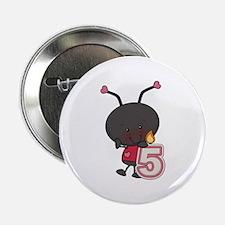 """5th Birthday Ladybug 2.25"""" Button"""