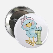 """1st Birthday Bird 2.25"""" Button"""