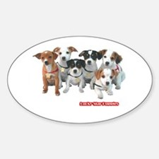 Lucky Star Puppies 5A Oval Decal