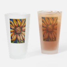 Sunflower, colorful, art, Drinking Glass