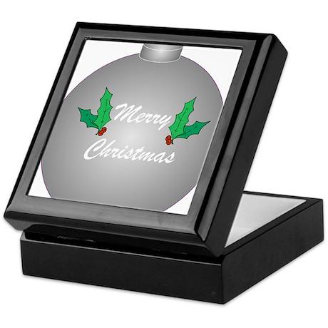 Silver Christmas Tree Ornamen Keepsake Box
