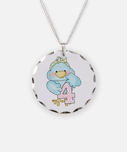 4th Birthday Bird Necklace