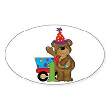 1st Birthday Bear Decal