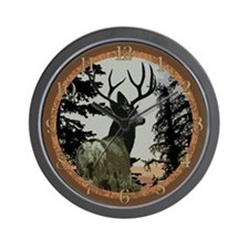 Buck deer Wall Clock