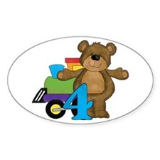 4th Birthday Bear Decal