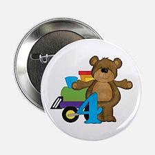"4th Birthday Bear 2.25"" Button"
