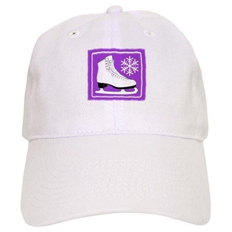 Purple Ice Skate Cap
