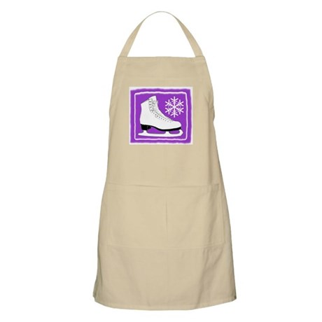 Purple Ice Skate BBQ Apron