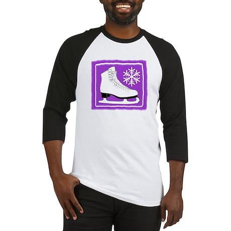 Purple Ice Skate Baseball Jersey