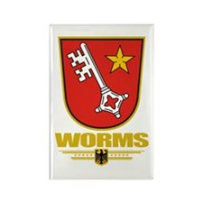 Worms Rectangle Magnet