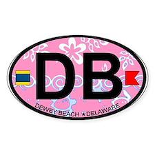 Dewey Beach DE - Oval Design Decal