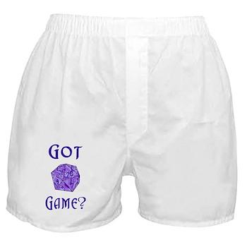 d20 Got Game? Boxer Shorts