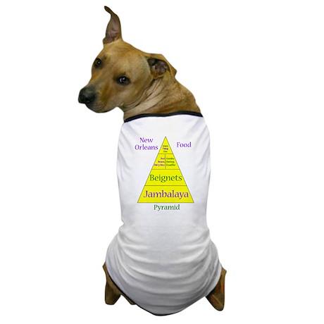 New Orleans Food Pyramid Dog T-Shirt
