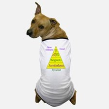 New Orleans Food Pyramid Dog T-Shirt