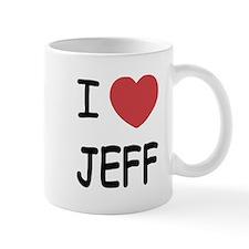 I heart jeff Small Small Mug