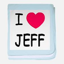 I heart jeff baby blanket