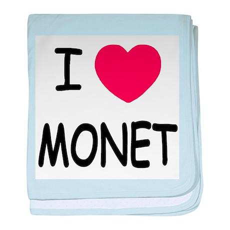 I heart monet baby blanket