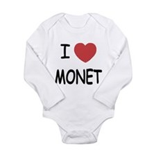 I heart monet Long Sleeve Infant Bodysuit