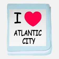 I heart atlantic city baby blanket