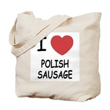 I heart polish sausage Tote Bag