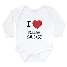 I heart polish sausage Long Sleeve Infant Bodysuit
