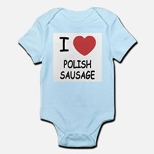 I heart polish sausage Infant Bodysuit