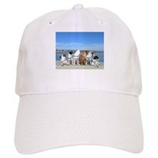 Puppies at Beach 3A Baseball Cap