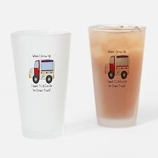 Drive IceCream Truck Drinking Glass