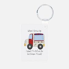 Drive IceCream Truck Keychains