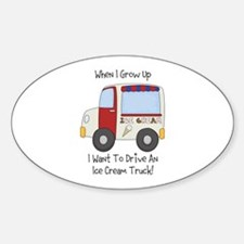 Drive IceCream Truck Sticker (Oval)