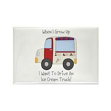 Drive IceCream Truck Rectangle Magnet
