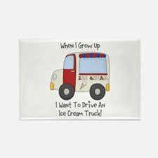 Drive IceCream Truck Rectangle Magnet