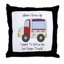 Drive IceCream Truck Throw Pillow