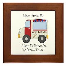Drive IceCream Truck Framed Tile