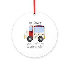 Drive IceCream Truck Ornament (Round)