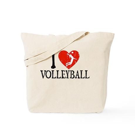 I Heart Volleball - Girl Tote Bag