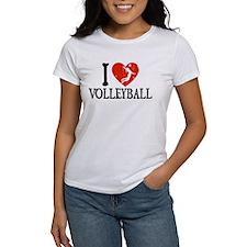 I Heart Volleball - Girl Tee