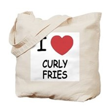 I heart curly fries Tote Bag