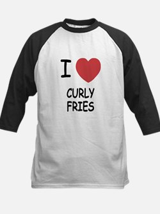 I heart curly fries Kids Baseball Jersey