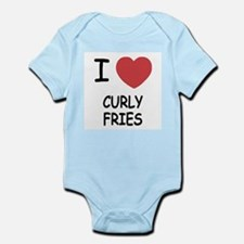 I heart curly fries Infant Bodysuit
