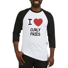 I heart curly fries Baseball Jersey