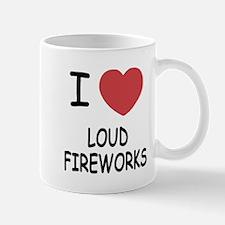 I heart loud fireworks Mug
