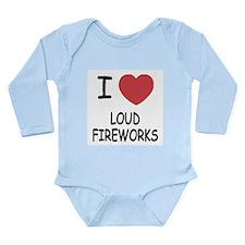 I heart loud fireworks Long Sleeve Infant Bodysuit
