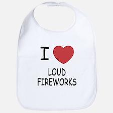 I heart loud fireworks Bib