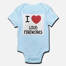 I heart loud fireworks Infant Bodysuit