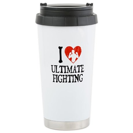 I Heart Ultimate Fighting Stainless Steel Travel M