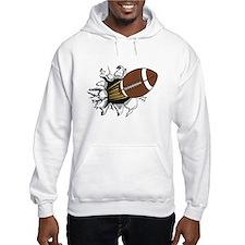Football Burster Hoodie Sweatshirt