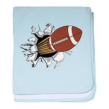 Football Burster baby blanket
